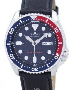 Seiko Automatic Diver's 200M Ratio Black Leather SKX009K1-LS10 Men's Watch