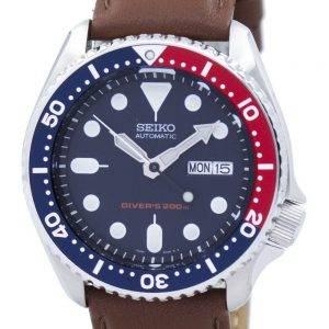Seiko Automatic Diver's 200M Ratio Brown Leather SKX009K1-LS12 Men's Watch