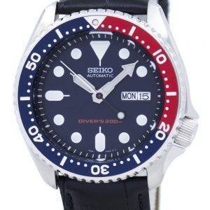 Seiko Automatic Diver's 200M Ratio Black Leather SKX009K1-LS6 Men's Watch