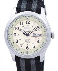 Seiko 5 Sports Military Automatic Japan Made NATO Strap SNZG07J1-NATO1 Men's Watch