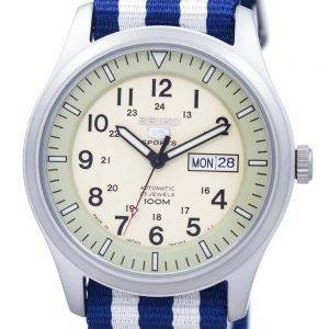 Seiko 5 Sports Military Automatic Japan Made NATO Strap SNZG07J1-NATO2 Men's Watch