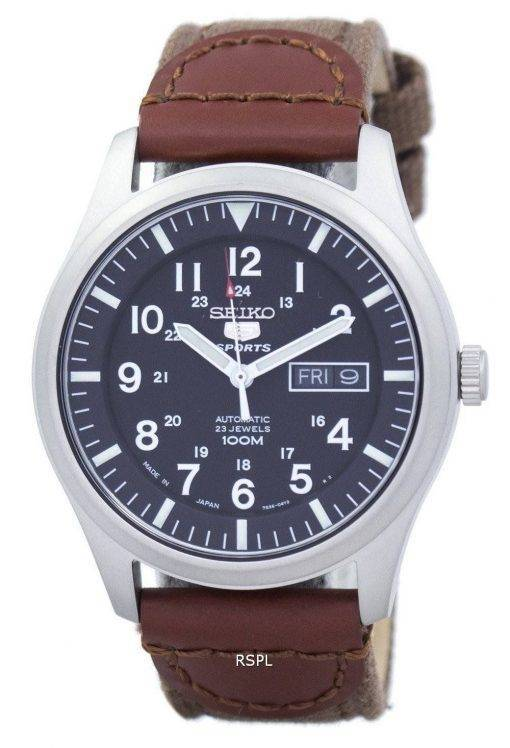 Seiko 5 Sports Automatic Japan Made Canvas Strap SNZG15J1-NS1 Men's Watch