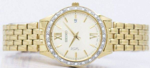 Seiko Quartz Diamond Accent SUR688 SUR688P1 SUR688P Women's Watch