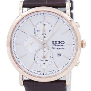 Seiko Premier Chronograph Quartz Alarm SNAF82 SNAF82P1 SNAF82P Men's Watch