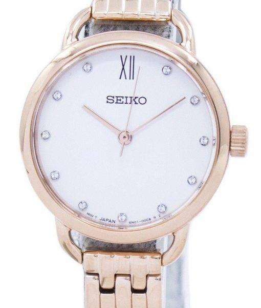 Seiko Analog Quartz Diamond Accent SUR698 SUR698P1 SUR698P Women's Watch