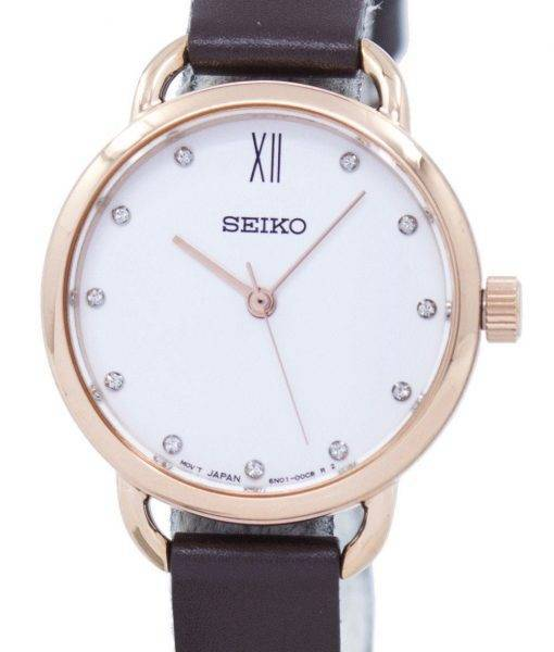 Seiko Analog Quartz Diamond Accent SUR698P2 Women's Watch