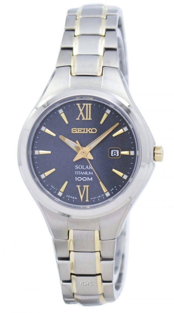 Seiko Titanium Solar SUT275 SUT275P1 SUT275P Women's Watch
