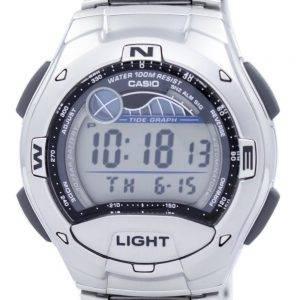 Casio Dual Time Alarm Tide Graph Digital W-753D-1AV W753D-1AV Men's Watch