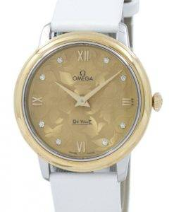 "Omega De Ville Prestige ""Butterfly"" Quartz Diamond Accent 424.22.33.60.58.001 Women's Watch"