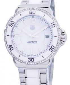 Tag Heuer Formula 1 White Ceramic Diamonds Swiss Made WAH1213.BA0861 Women's Watch