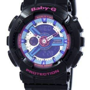 Casio Baby-G World Time Analog Digital Multicolor Dial BA-112-1A Womens Watch