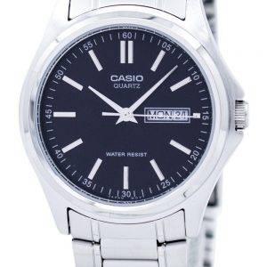 Casio Enticer Quartz Analog Black Dial MTP-1239D-1ADF MTP-1239D-1A Mens Watch