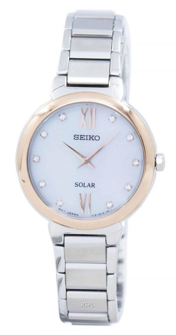 Seiko Classic Solar Diamond Accent SUP382 SUP382P1 SUP382P Women's Watch