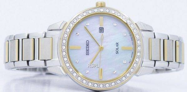 Seiko Solar Diamond Accent SUT328 SUT328P1 SUT328P Women's Watch