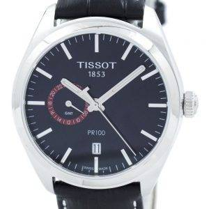 Tissot T-Classic PR 100 Dual Time Quartz T101.452.16.051.00 T1014521605100 Men's Watch