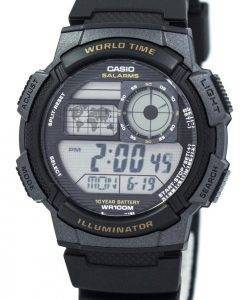 Casio Youth Digital World Time AE-1000W-1AV Men's Watch