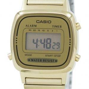 Casio Digital Stainless Steel Alarm Timer LA670WGA-9DF Womens Watch