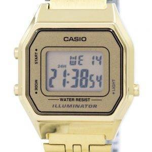 Casio Digital Quartz Stainless Steel Illuminator LA680WGA-9DF LA680WGA-9 Womens Watch