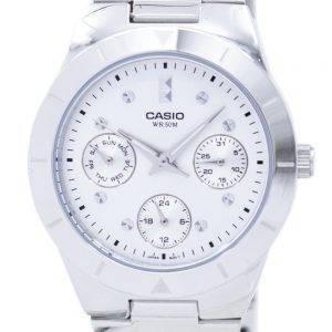Casio Enticer Analog Quartz Silver Dial LTP-2083D-7AVDF LTP-2083D-7AV Womens Watch