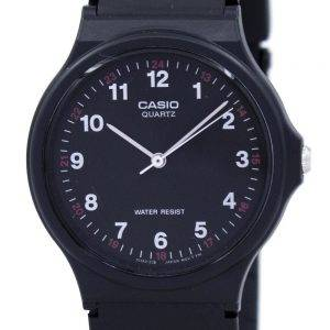 Casio Classic Analog Quartz Black Resin MQ-24-1BLDF MQ-24-1BL Mens Watch