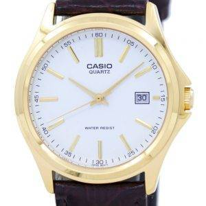 Casio Quartz Analog White Dial Gold Tone MTP-1183Q-7ADF MTP-1183Q-7A Mens Watch