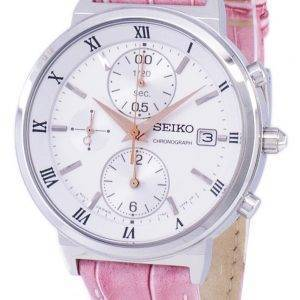 Seiko Chronograph Quartz SNDV35 SNDV35P1 SNDV35P Women's Watch