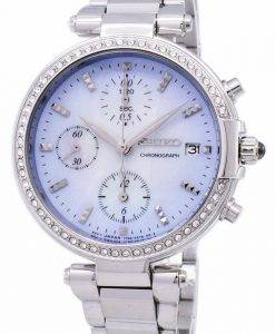 Seiko Chronograph Quartz Diamond Accent SNDV39 SNDV39P1 SNDV39P Women's Watch