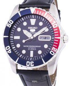 Seiko 5 Sports Automatic Ratio Black Leather SNZF15K1-LS6 Men's Watch