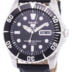 Seiko 5 Sports Automatic Ratio Black Leather SNZF17K1-LS10 Men's Watch