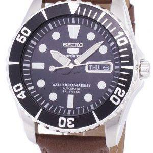 Seiko 5 Sports Automatic Ratio Brown Leather SNZF17K1-LS12 Men's Watch