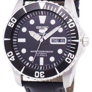 Seiko 5 Sports Automatic Ratio Black Leather SNZF17K1-LS6 Men's Watch