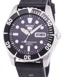 Seiko 5 Sports Automatic Ratio Black Leather SNZF17K1-LS8 Men's Watch