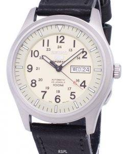 Seiko 5 Sports Automatic Ratio Black Leather SNZG07K1-LS8 Men's Watch