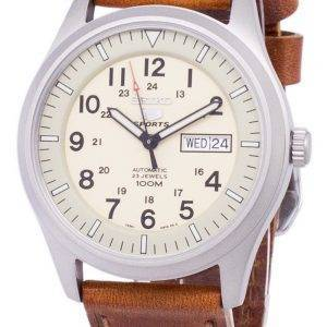 Seiko 5 Sports Automatic Ratio Brown Leather SNZG07K1-LS9 Men's Watch