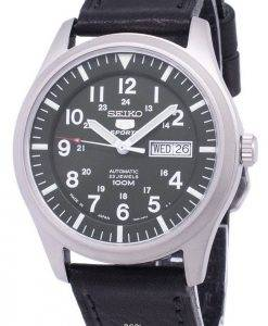 Seiko 5 Sports Automatic Japan Made Ratio Black Leather SNZG09J1-LS8 Men's Watch
