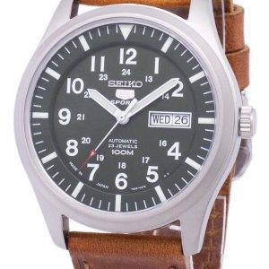 Seiko 5 Sports Automatic Japan Made Ratio Brown Leather SNZG09J1-LS9 Men's Watch