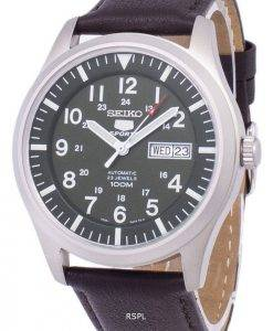 Seiko 5 Sports Automatic Ratio Dark Brown Leather SNZG09K1-LS11 Men's Watch