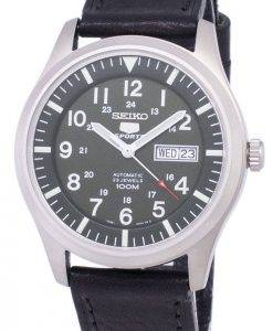 Seiko 5 Sports Automatic Ratio Black Leather SNZG09K1-LS8 Men's Watch