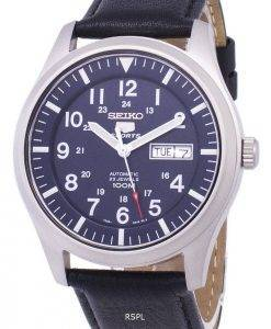 Seiko 5 Sports Automatic Ratio Black Leather SNZG11K1-LS10 Men's Watch