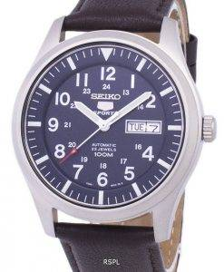 Seiko 5 Sports Automatic Ratio Dark Brown Leather SNZG11K1-LS11 Men's Watch