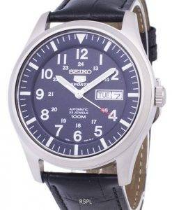 Seiko 5 Sports Automatic Ratio Black Leather SNZG11K1-LS6 Men's Watch