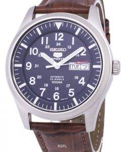 Seiko 5 Sports Automatic Ratio Brown Leather SNZG11K1-LS7 Men's Watch