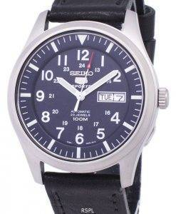 Seiko 5 Sports Automatic Ratio Black Leather SNZG11K1-LS8 Men's Watch
