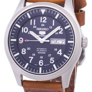 Seiko 5 Sports Automatic Ratio Brown Leather SNZG11K1-LS9 Men's Watch
