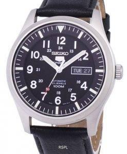 Seiko 5 Sports Automatic Ratio Black Leather SNZG15K1-LS10 Men's Watch