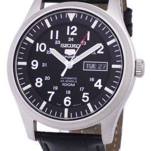 Seiko 5 Sports Automatic Ratio Black Leather SNZG15K1-LS6 Men's Watch