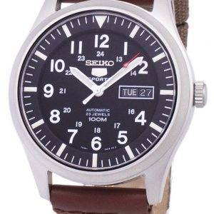 Seiko 5 Sports Automatic Canvas Strap SNZG15K1-NS1 Men's Watch