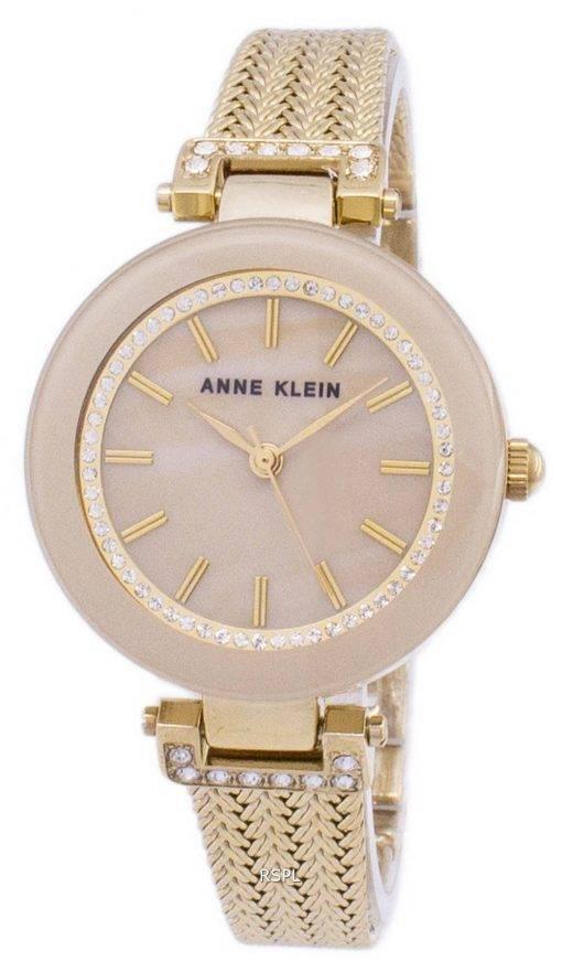Anne Klein Quartz Diamond Accents 1906TMGB Women's Watch