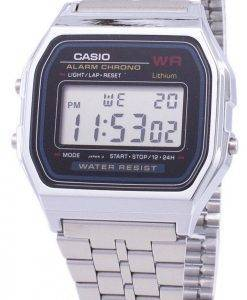 Casio Digital Alarm Chrono Stainless Steel A159WA-N1DF A159WA-N1 Mens Watch