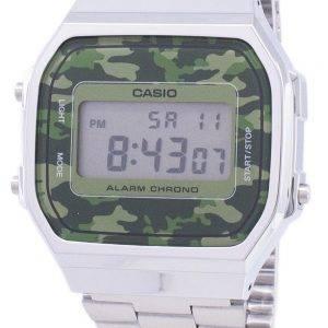 Casio Retro Digital Camouflage Alarm Chrono A168WEC-3EF Unisex Watch